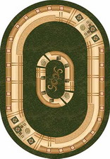 Ковер DA VINCI_5263, 1*2, OVAL, GREEN